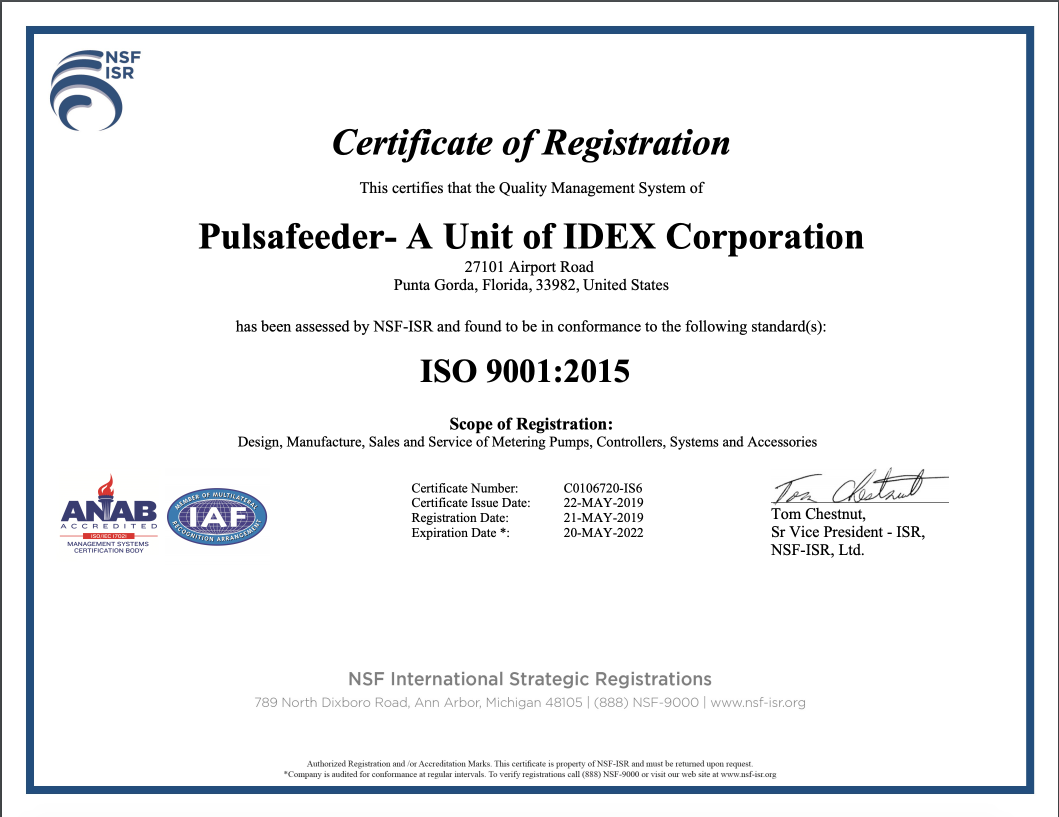 ISO 9001-2015 Certificate 2019